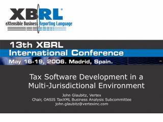 Tax Software Development in a Multi-Jurisdictional Environment