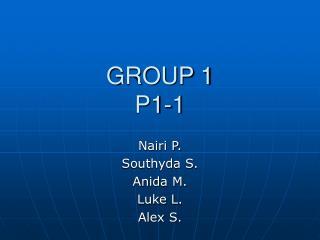 GROUP 1 P1-1