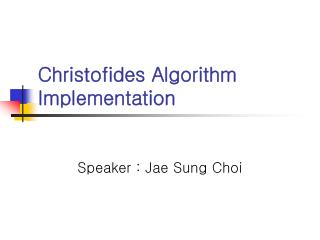 Christofides Algorithm Implementation