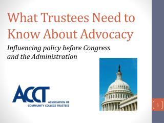 What Trustees Need to Know About Advocacy