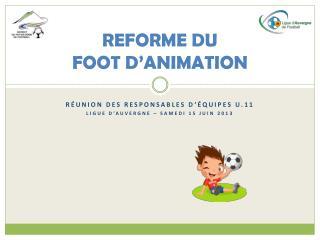 REFORME DU FOOT D'ANIMATION