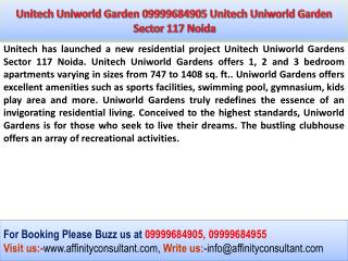 Unitech Uniworld Garden NRI Project Uniworld Garden Sector 1