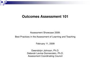 Outcomes Assessment 101
