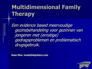 Multidimensional Family Therapy