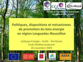 Mission de Promotion du bois-énergie en Lozère et dans le Gard