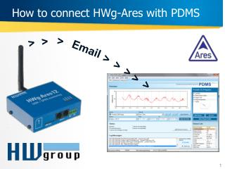 How to connect HWg-Ares with PDMS