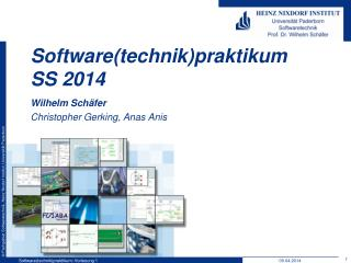 Software( technik ) praktikum SS  2014