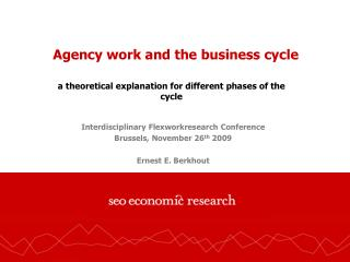 Agency work and the business cycle