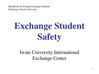 Exchange Student Safety