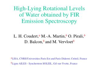 High-Lying Rotational Levels of Water obtained by FIR Emission Spectroscopy