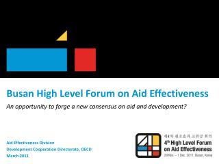 Busan High Level Forum on Aid Effectiveness