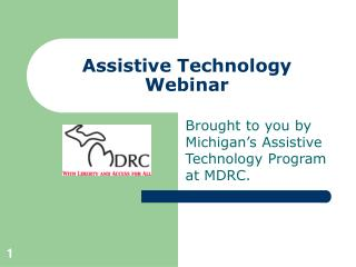 Assistive Technology Webinar
