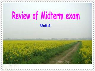 Review of Midterm exam