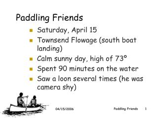 Paddling Friends