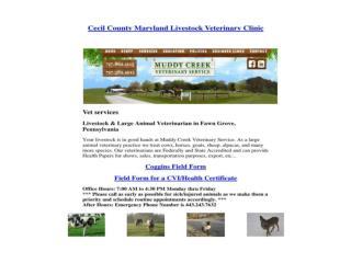 Cecil County Maryland Livestock Veterinary Clinic