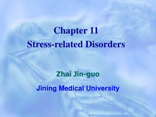 Chapter 11 Stress-related Disorders
