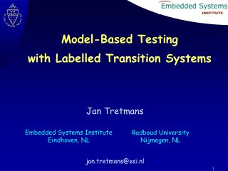 Model-Based Testing with Labelled Transition Systems