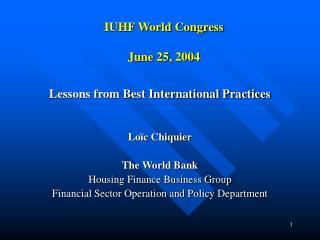 IUHF World Congress June 25, 2004