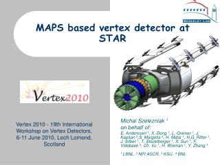 MAPS based vertex detector at STAR