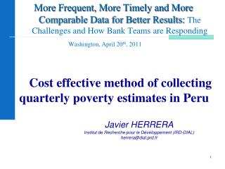 Cost effective method of collecting quarterly poverty estimates in Peru