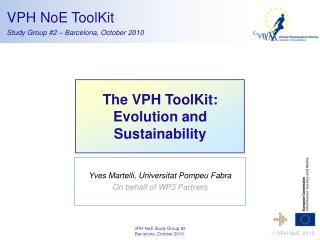 The VPH ToolKit: Evolution and Sustainability