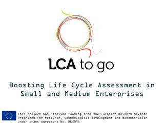 B oosting  Life  Cycle  Assessment in  Small and Medium Enterprises