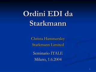Ordini EDI da Starkmann