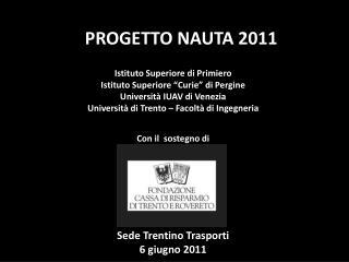 PROGETTO NAUTA 2011
