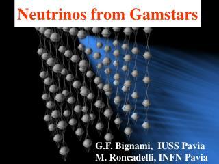 Neutrinos from Gamstars