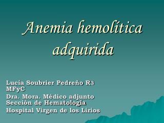 Anemia hemolítica adquirida