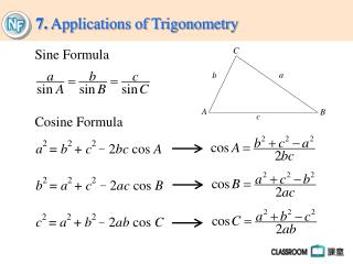 7.  Applications of Trigonometry