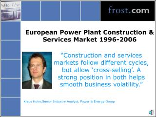 European Power Plant Construction & Services Market 1996-2006
