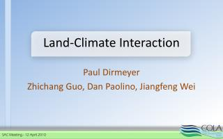 Land-Climate Interaction