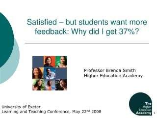 Satisfied – but students want more feedback: Why did I get 37%?