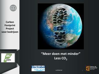 Carbon Footprint Project voor bedrijven