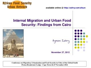 Internal Migration and Urban Food Security: Findings from Cairo
