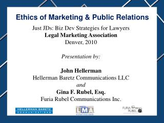 Ethics of Marketing & Public Relations