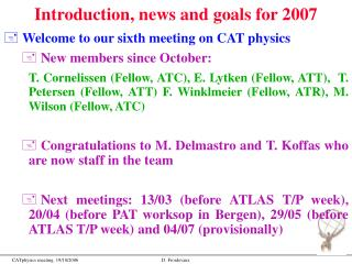 Introduction, news and goals for 2007