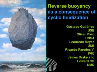 Reverse buoyancy  as a consequence of cyclic fluidization