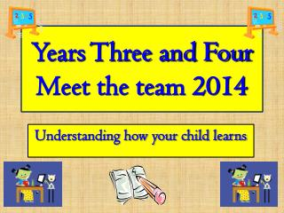 Years Three and Four Meet the team 2014
