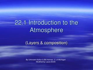 22.1 Introduction to the Atmosphere