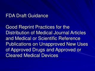 A scientific or medical journal article that is distributed should: