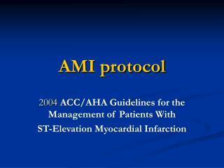 AMI protocol