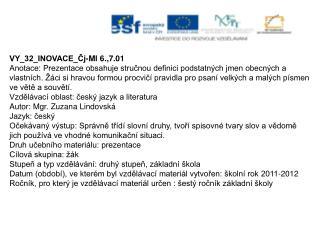 VY_32_INOVACE_Čj-Ml 6.,7.01