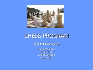 CHESS PROGRAM