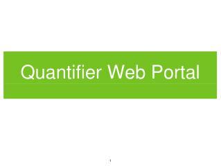 Quantifier Web Portal