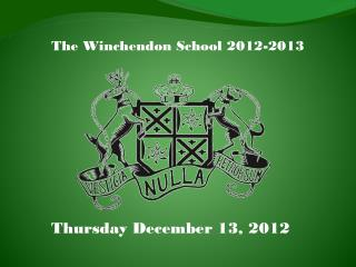 The Winchendon School 2012-2013