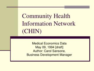 Community Health Information Network (CHIN)
