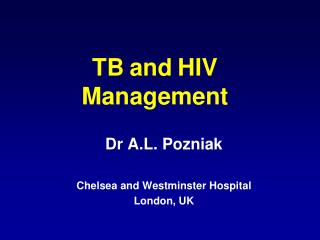TB and HIV Management