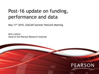 Post-16 update on funding, performance and data